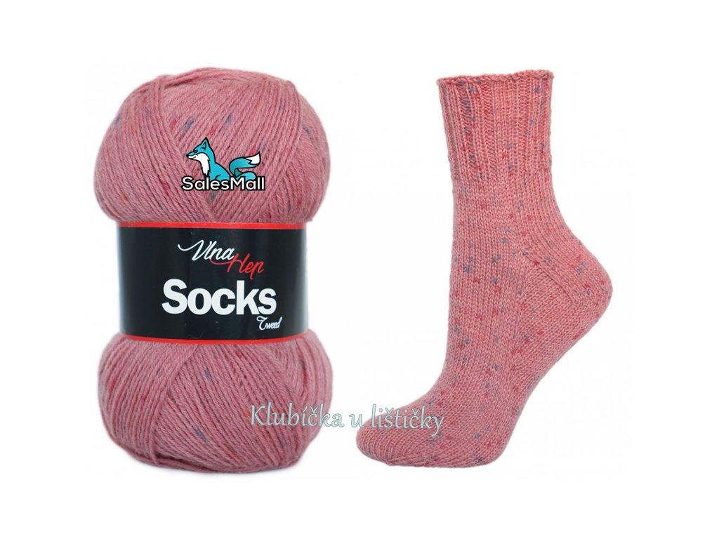 Vlna-Hep příze Socks Tweed 6029 - starorůžová