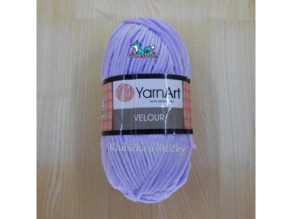 YarnArt Velour 859 - světle fialová
