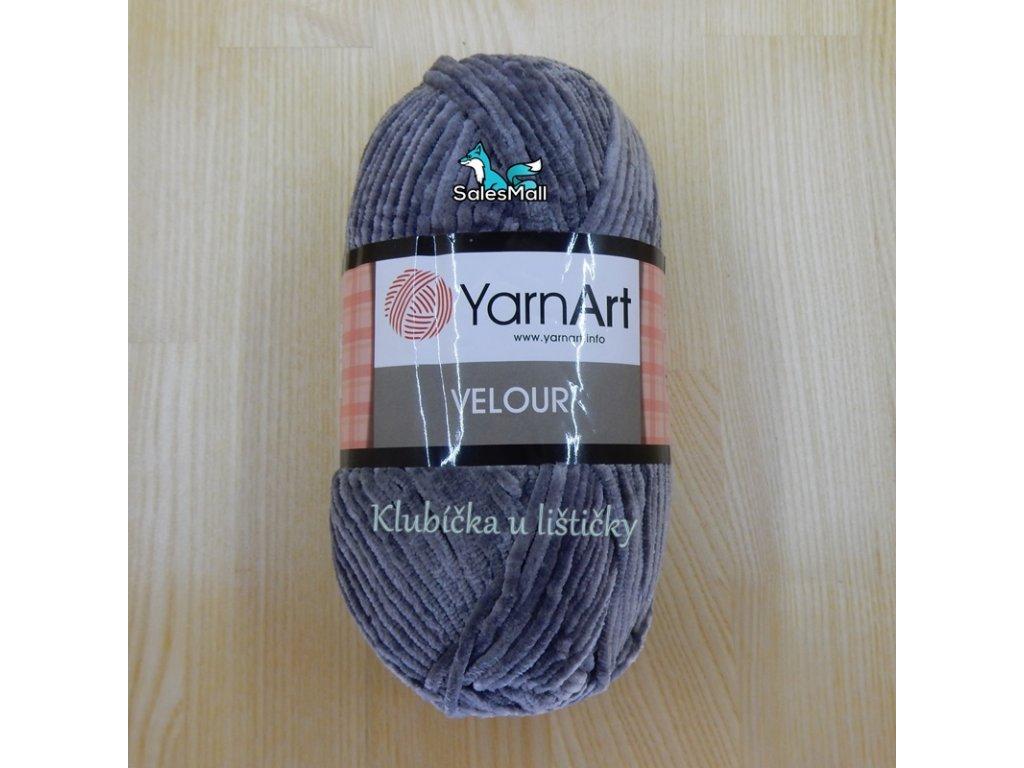 YarnArt Velour 858 - šedá
