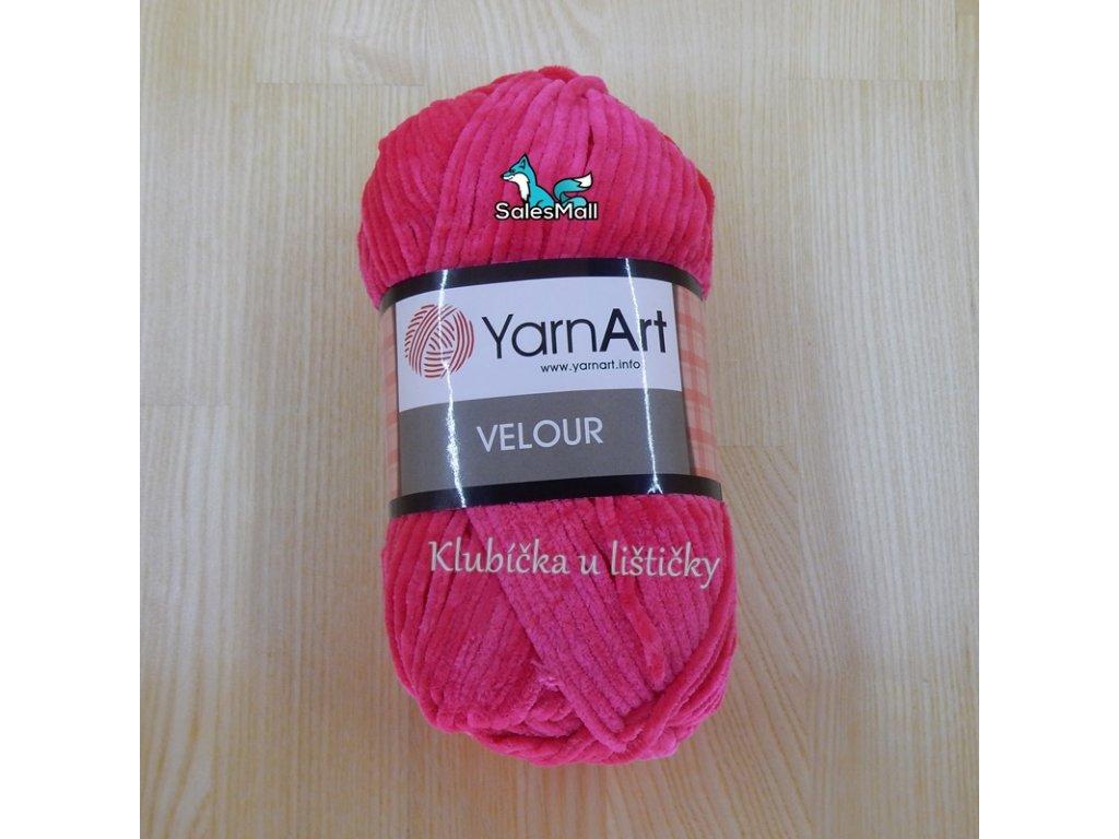 YarnArt Velour 853 - cyklámen