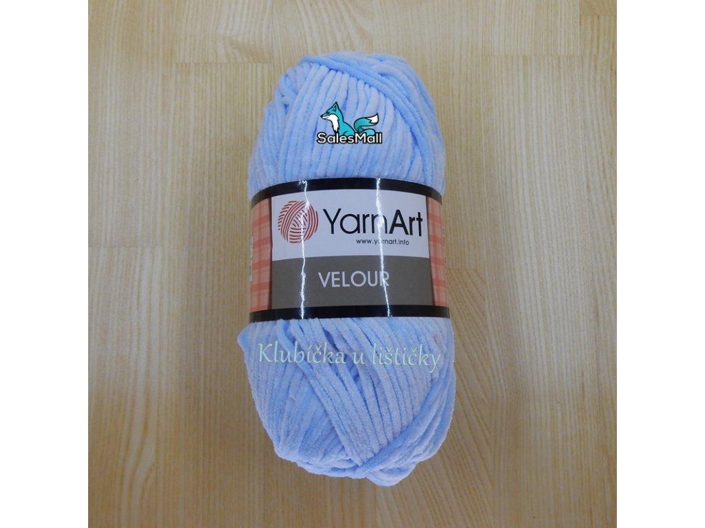 YarnArt Velour 851 - světle modrá