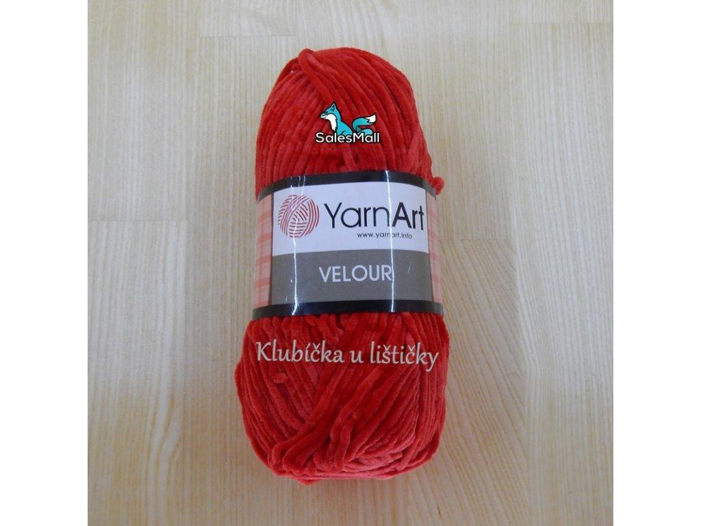 YarnArt Velour 846 - červená