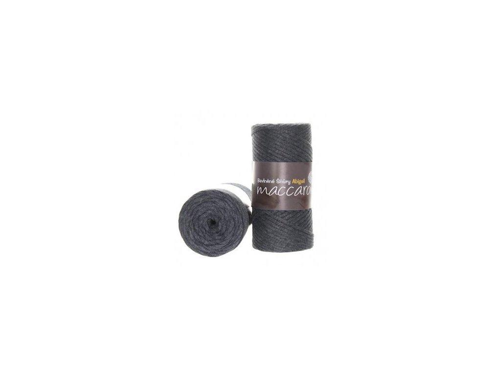 Bavlněné šňůry 3 mm - 19 modrošedá