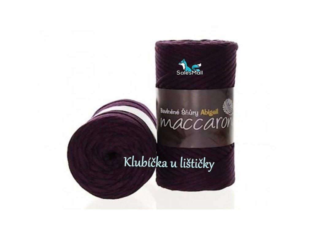 Abigail bavlněné šňůry 3 mm - 15 fialová