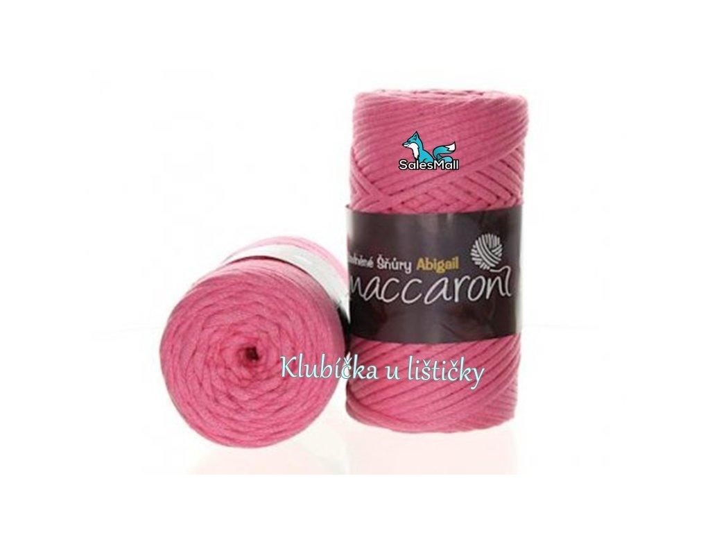 Abigail bavlněné šňůry 3 mm - 09 růžová
