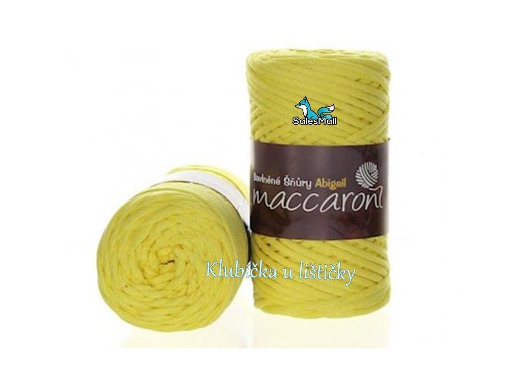 Bavlněné šňůry 3 mm - 03  žlutá