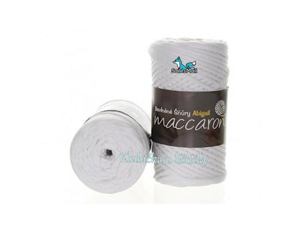Bavlněné šňůry 3 mm - 01 bílá
