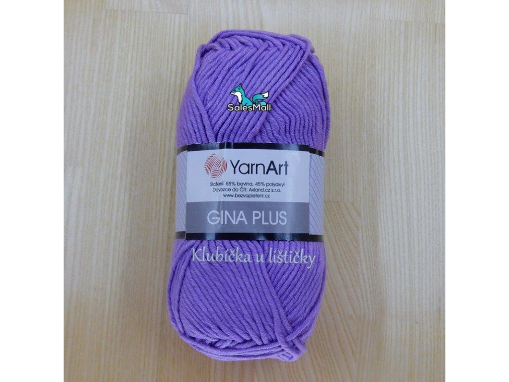 YarnArt Příze Gina Plus 72 - fialová