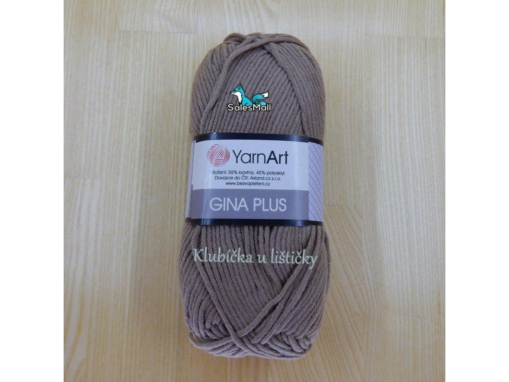 YarnArt Příze Gina Plus 71 - světle hnědá