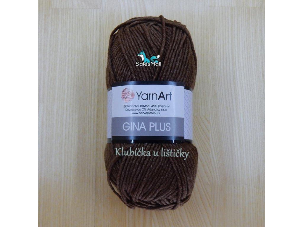 YarnArt Příze Gina Plus 70 - hnědá
