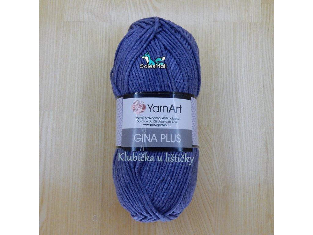 YarnArt Příze Gina Plus 68 - modrošedá