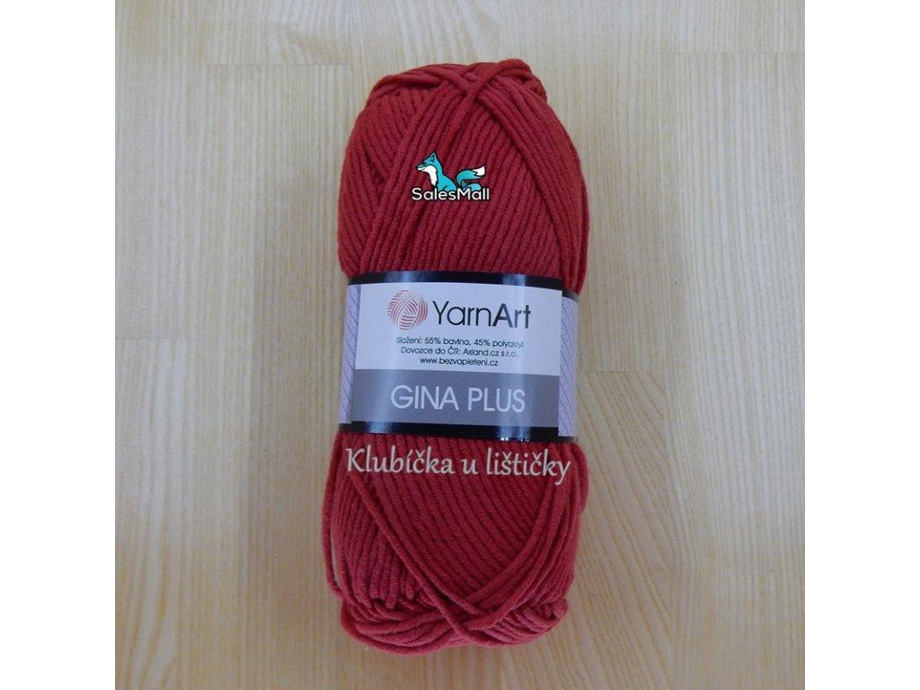 YarnArt Příze Gina Plus 51 - červená