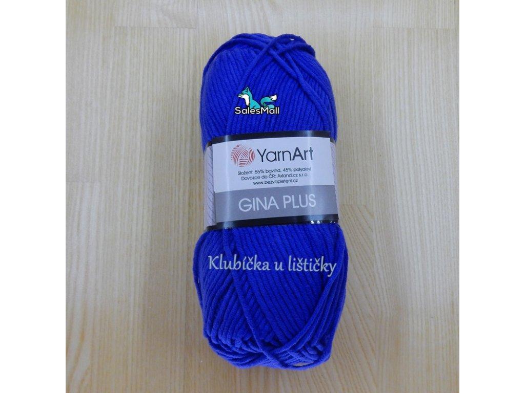 YarnArt Příze Gina Plus 47 - modrá