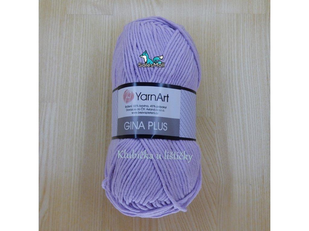 YarnArt Příze Gina Plus 19 - světle fialová