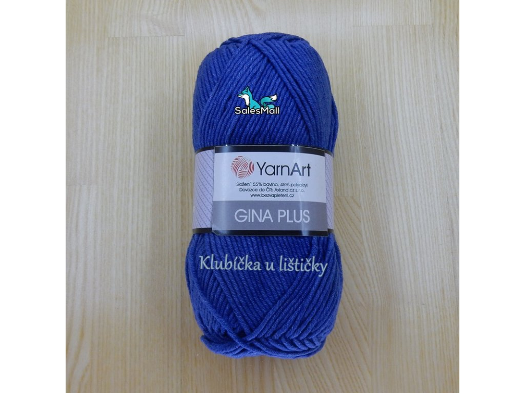 YarnArt Příze Gina Plus 17 - středně modrá