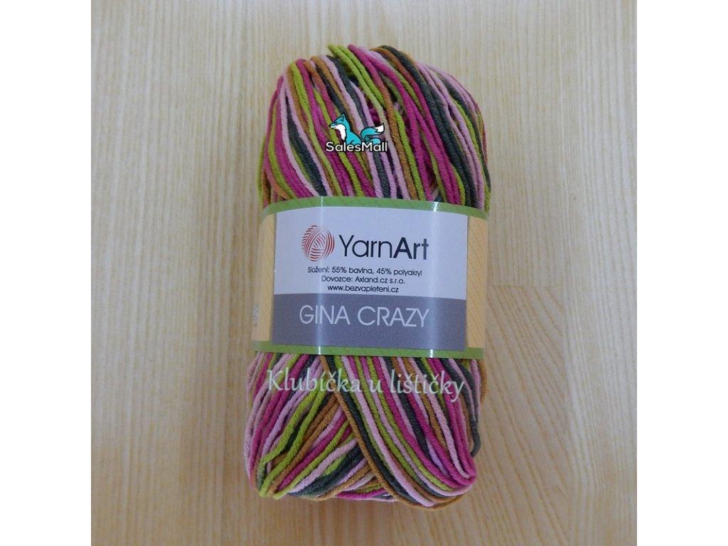 YarnArt Příze Gina Crazy 7206
