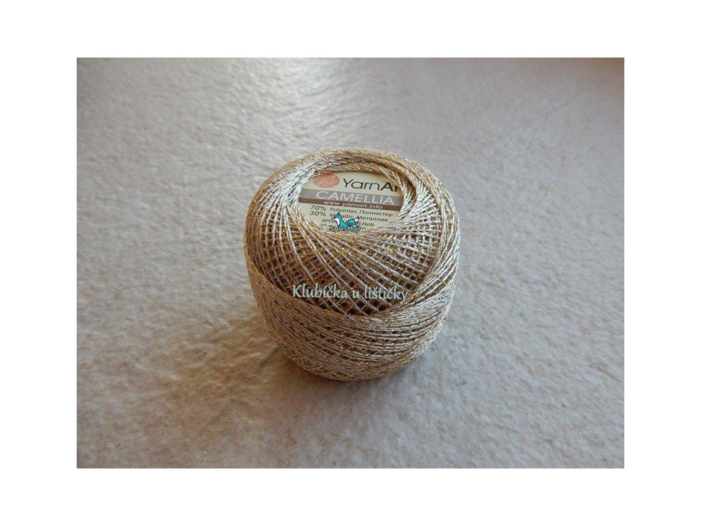 YarnArt Camellia 430 - světle zlatá