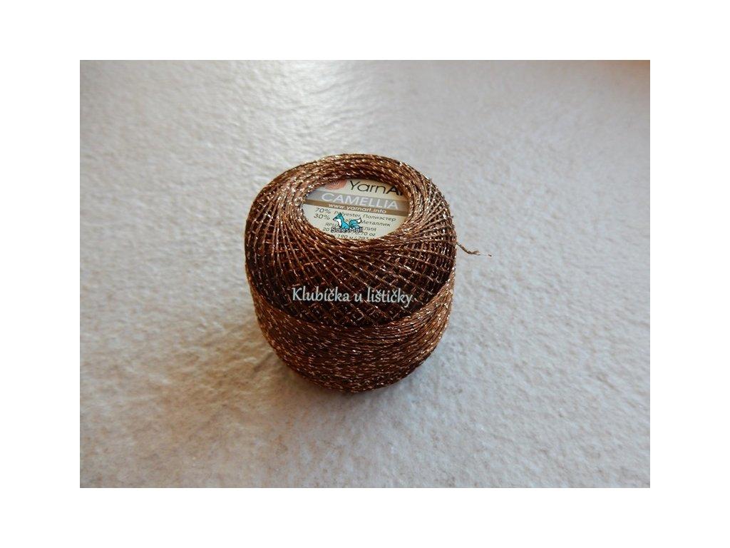 YarnArt Camellia 422 - hnědá