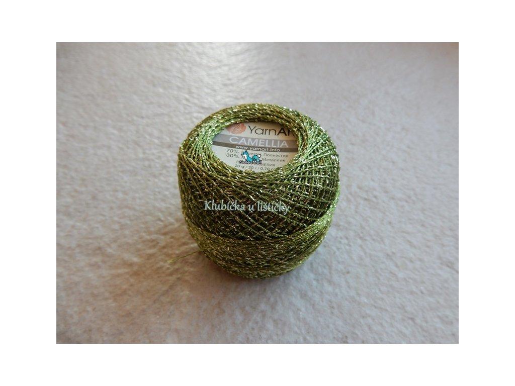 YarnArt Camellia 420 - zelená