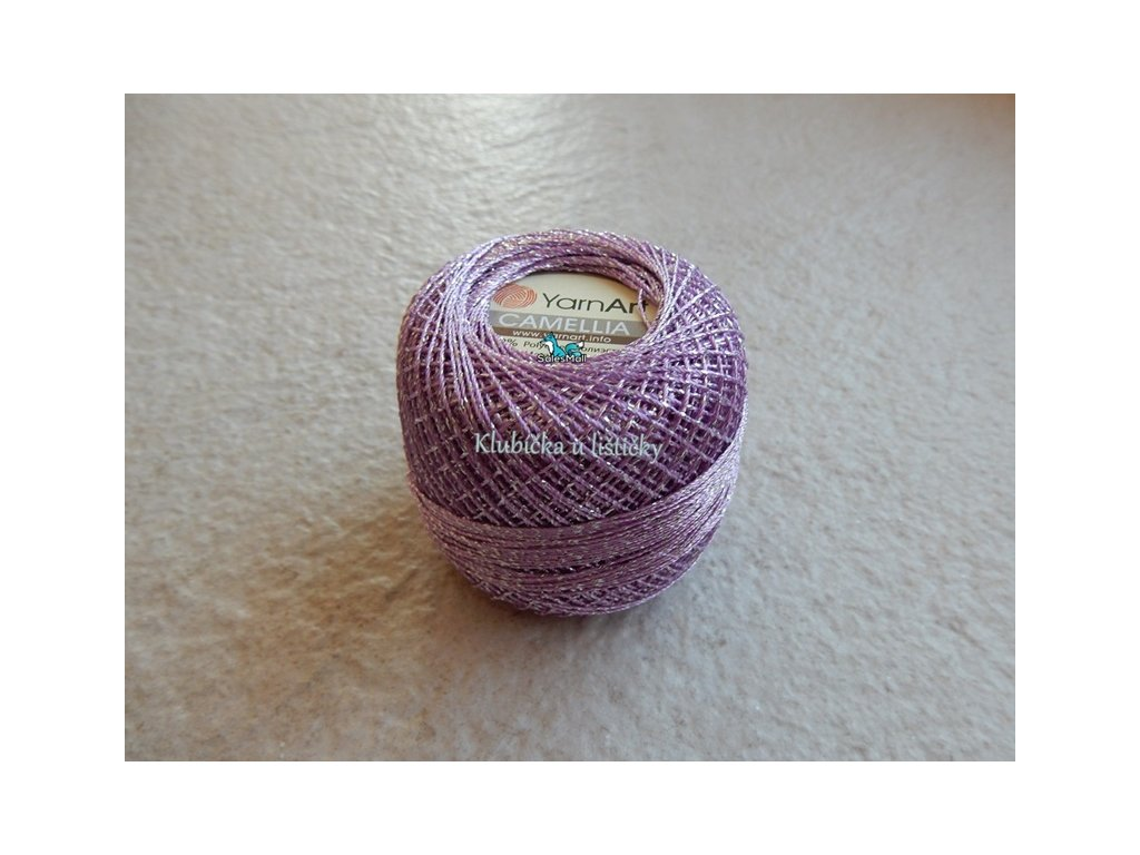 YarnArt Camellia 414 - světle fialová