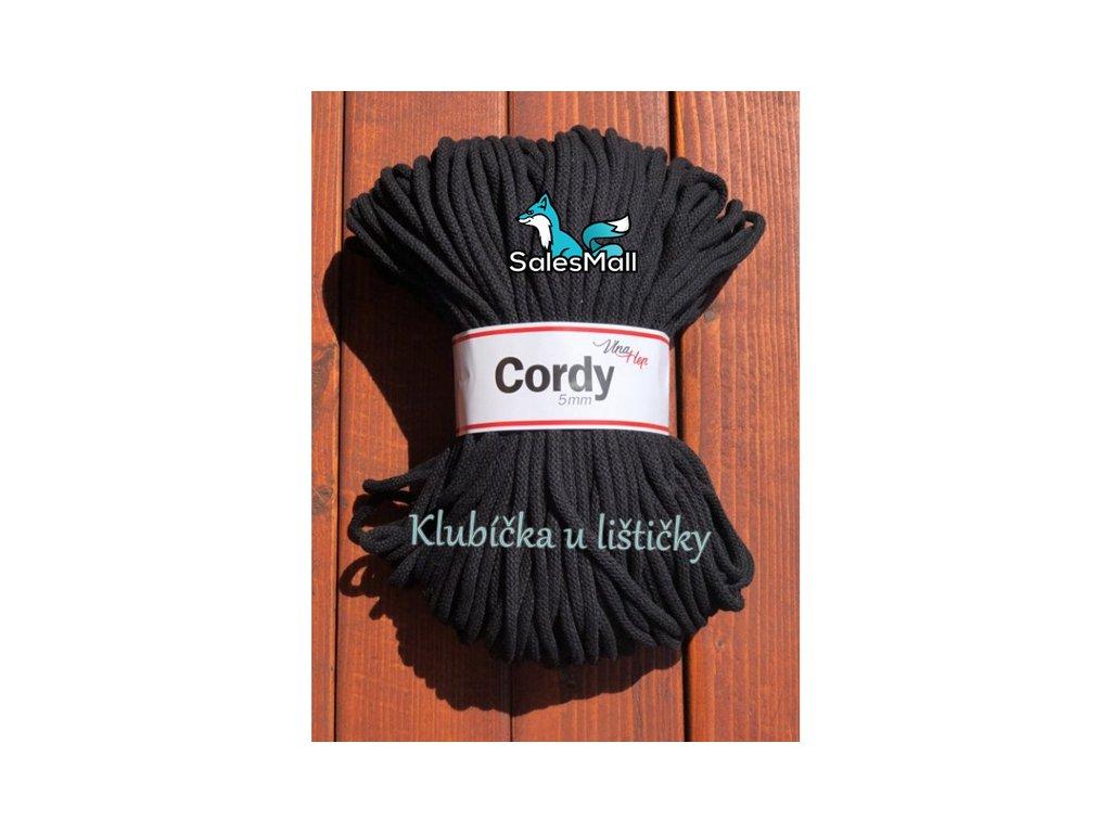 Vlna-Hep Cordy 5mm-černá