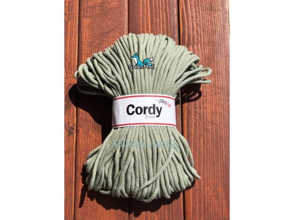 Vlna-Hep Cordy 5mm-olivová