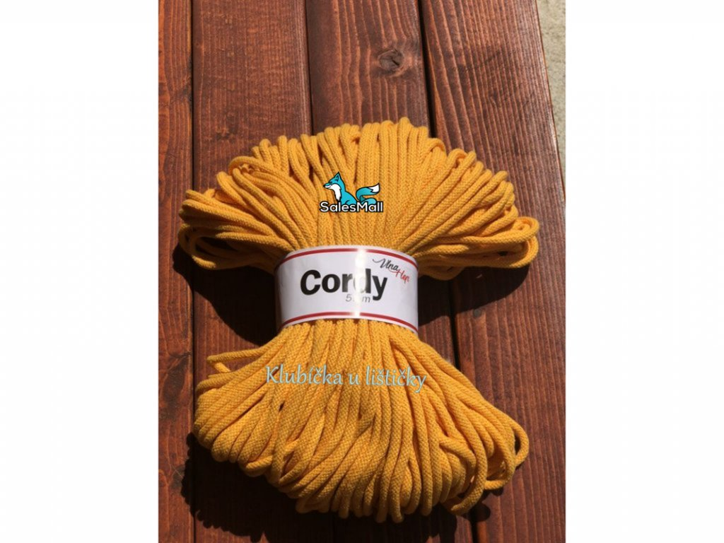 Vlna-Hep Cordy 5mm-žlutá