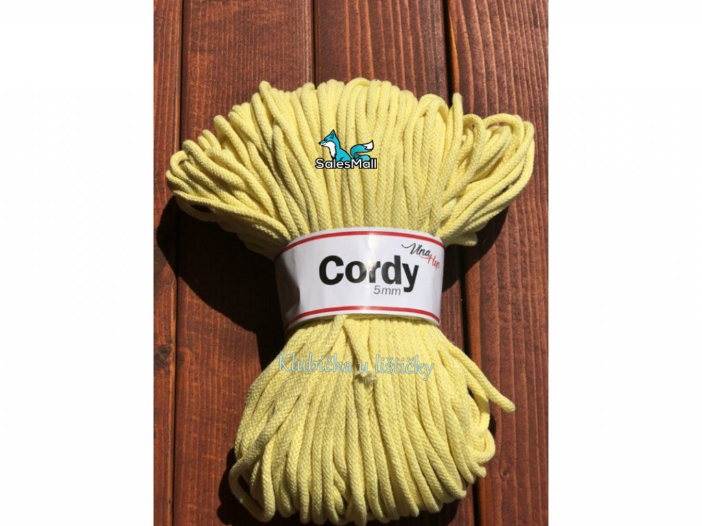 Vlna-Hep Cordy 5mm-citronová