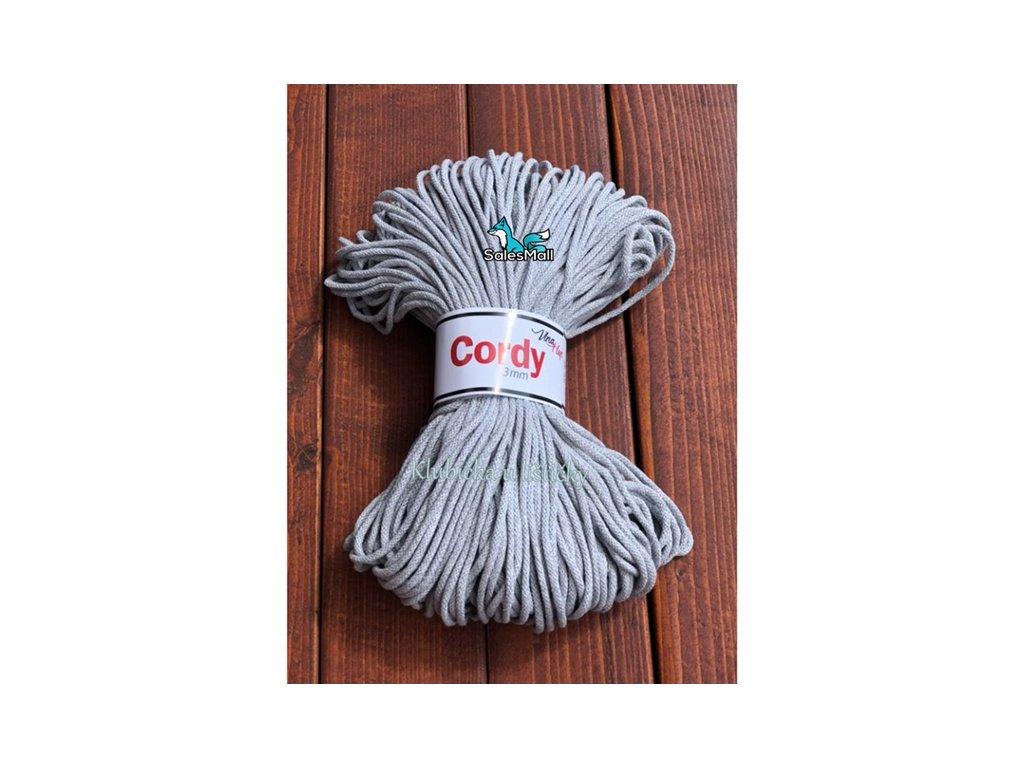 Vlna-Hep Cordy 3mm-šedá