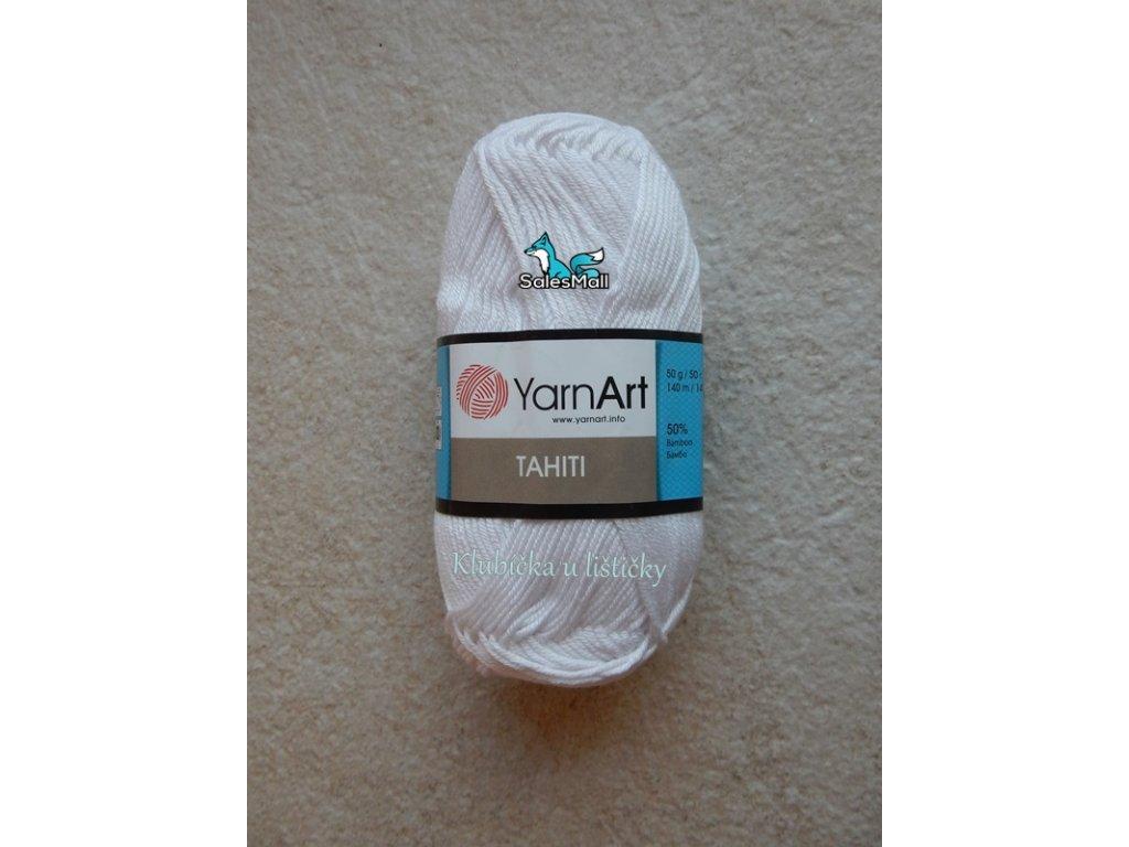 YarnArt Tahiti 210-bílá