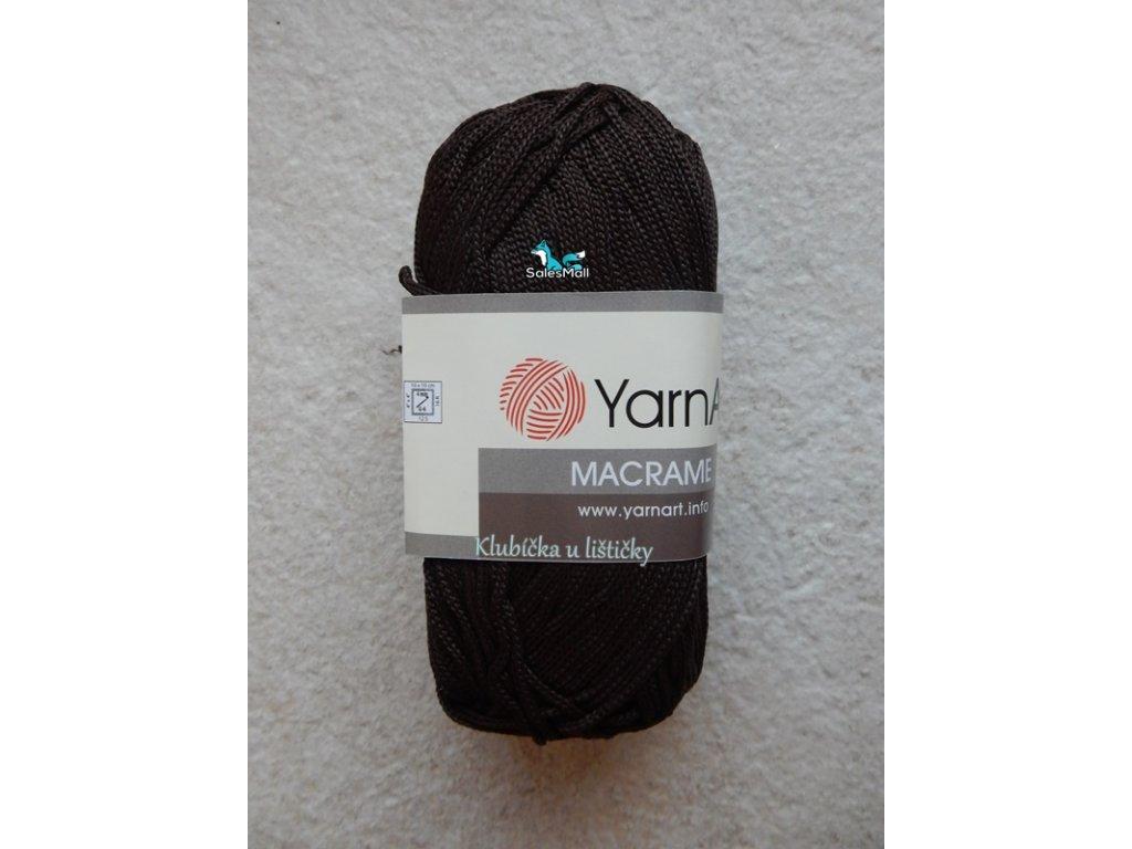 YarnArt Macrame 157-tmavě hnědá