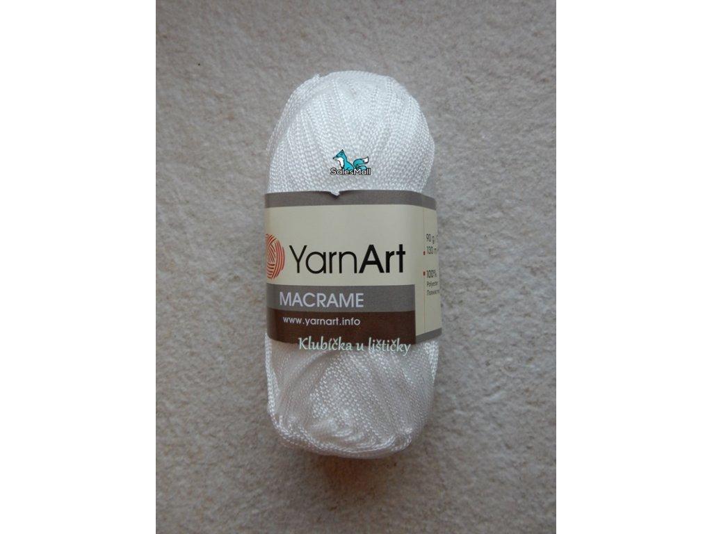YarnArt Macrame 154-bílá
