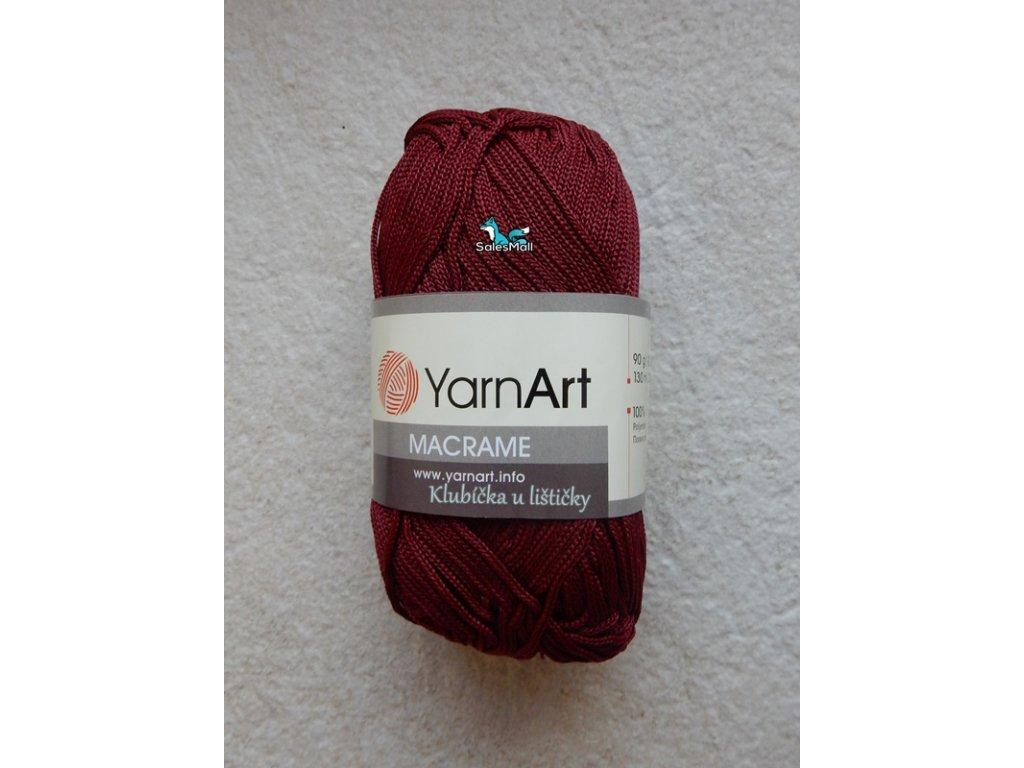 YarnArt Macrame 145-bordó