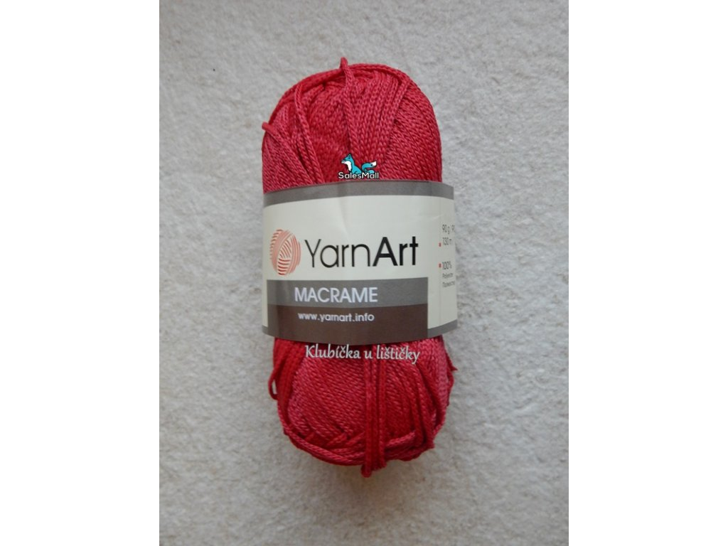 YarnArt Macrame 143-červená