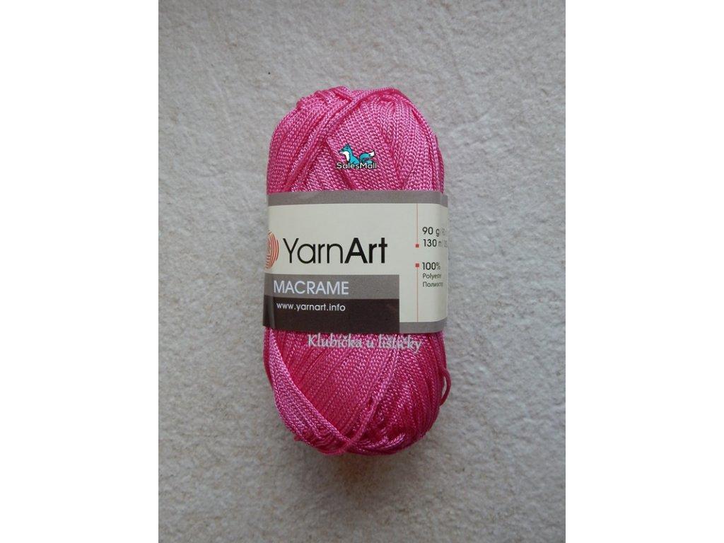 YarnArt Macrame 140-tmavě růžová