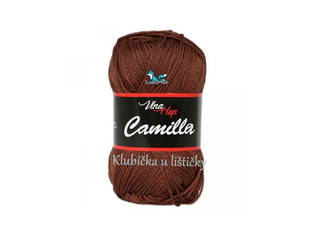 Vlna-Hep Camilla-8220 tmavá hnědá