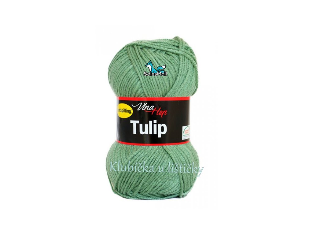 Vlna-Hep Tulip 4135-zelená