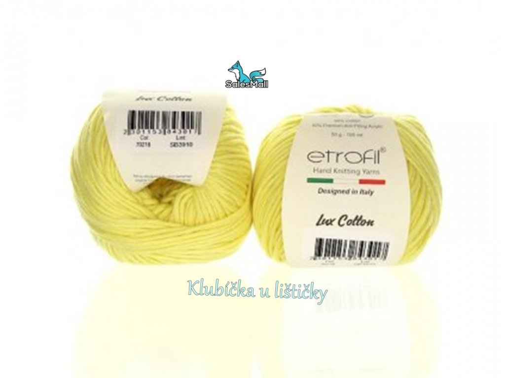 Etrofil Bambino Lux Cotton 70218 - světle žlutá