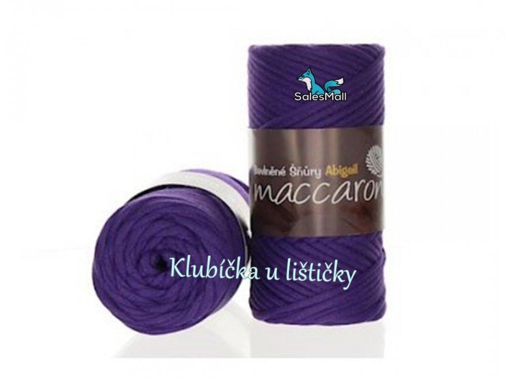 Abigail bavlněné šňůry 3 mm - 29 fialová