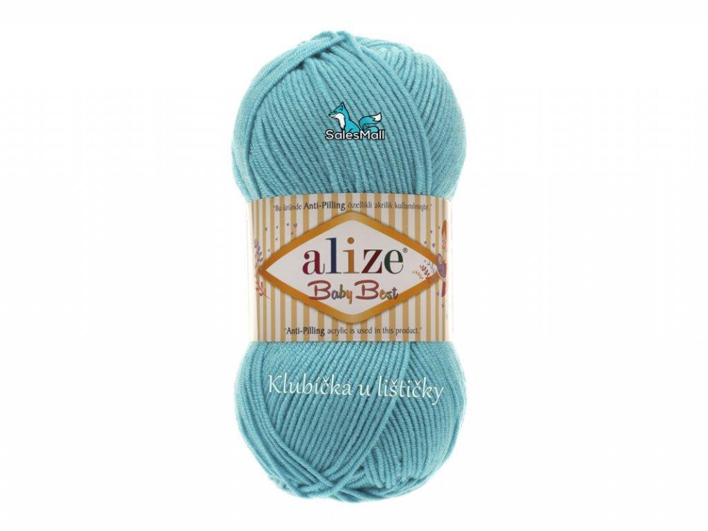 Alize Baby Best 287 - tyrkysová