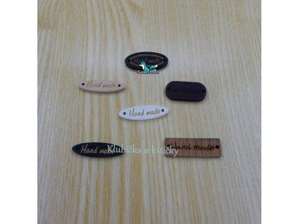 Handmade obdélník dřevěný barevný mix
