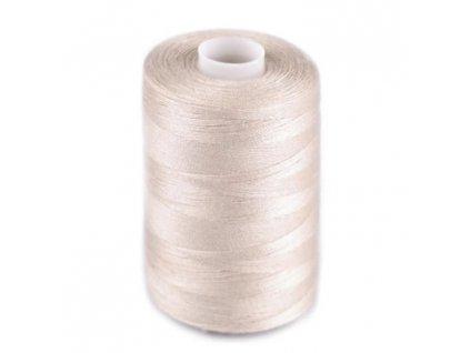 Polyesterové nitě pro overlocky i klasické šití - světle béžová
