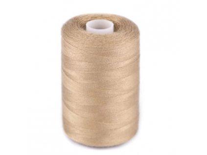 Polyesterová nit pro overlocky i klasické šití - písková hnědá