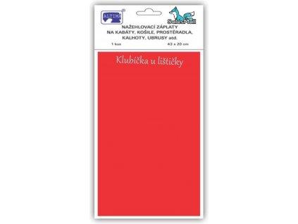 Klasické záplaty jednobarevné barva červená 33