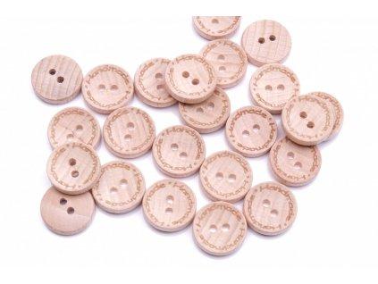 knoflik dreveny handmade 2524 vel 24 15 2mm