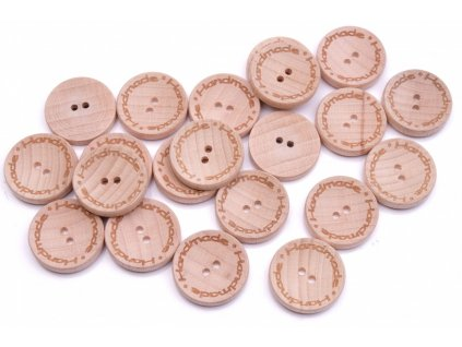 knoflik dreveny handmade 2536 vel 36 22 9mm