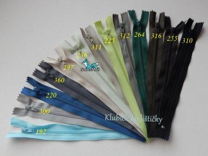 Zip spirálový3 mm - nedělitelný 18 cm III