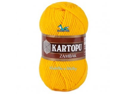 Příze Kartopu Zambak 320 - šafránově žlutá