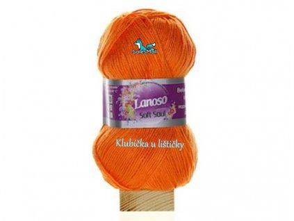 Lanoso Soft Soul 906 - oranžová