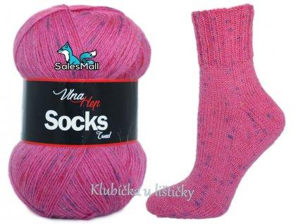 Vlna-Hep příze Socks Tweed 6037 - tmavě růžová